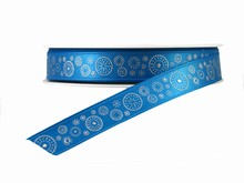 Blue Ribbon with Silver Dotted Circles (0.5)