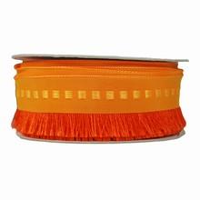 Ruban frangé rouge-orange (40mm)