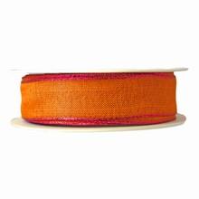 Orange Ribbon with Metallic Pink Trim (1in)