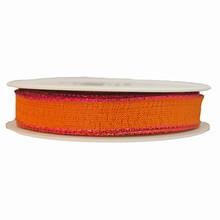 Orange Ribbon with Metallic Pink Trim (0.5in)