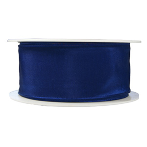 Ruban bleu marine uni