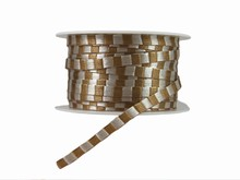 Ruban cordelette taupe et argent (10mm)