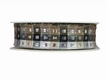 Ruban Carréauté noir, beige et argent (25mm)
