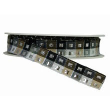 Black, Beige and Silver Plaid Ribbon (0.5in)
