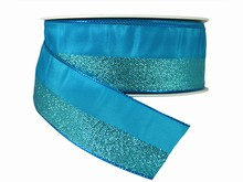Ruban bleu moitié brillant (40mm)