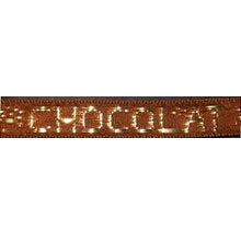 "Brown Ribbon golden ""Chocolat"" (0.2in)"