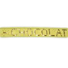 "Fluorescent Green Ribbon golden ""Chocolat"" (1/4in)"