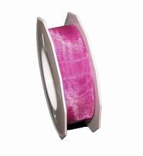 Sheer raspberry ribbon (1in)