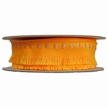Ruban frangé jaune orangé (40mm)