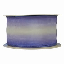 Ombre ribbon striped periwinkle and white (2in)