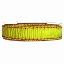Lime and raspberry ruffled ribbon (1.5in)