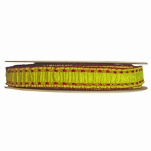Lime and raspberry ruffled ribbon (1in)