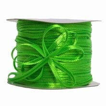 Lime green pull bow ribbon (0.2in)