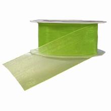 Lime Green Sheer Ribbon (1.5in)