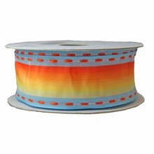 Periwinkle with ombre center orange-yellow (1.5in)