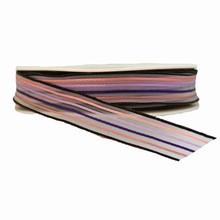 Ruban à rayures noir et mauve semi-transparent (15mm)