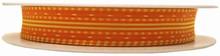Ruban laitonné jaune sur orange (15mm)