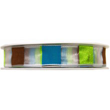 Sheer Ribbon with Multicolored Stripes (0.5in)