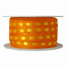 Orange ribbon with yellow dots (0.4in)