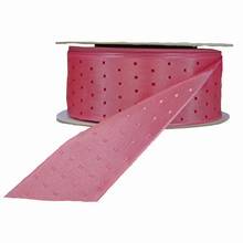 Pink reversible with fuchsia squares ribbon (1.5in)