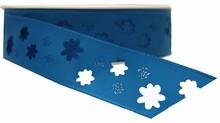 Sky Blue Flower Cutout Ribbon (1in)