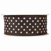 Brown Mini Stars Ribbon (1.5in)