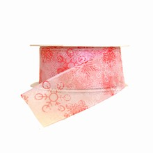 Ruban flocons de neige roses (40mm)