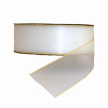 Sheer Sparkly White Ribbon (1.5in)