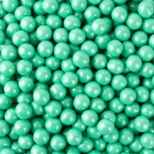 Sixlets, turquoise pearls