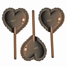 Lace heart lollipop mold