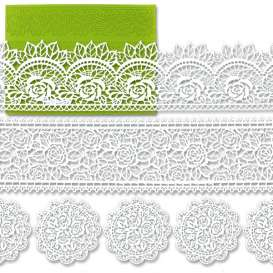 Silicone frises and naperons lace baking mat with roses