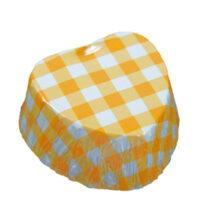 Candy cups heart orange et white (200u.)