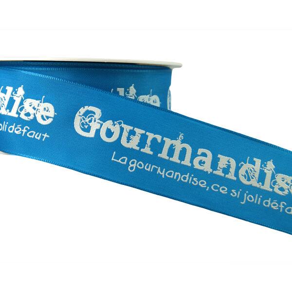 Ruban Gourmandise, bleu_40mm