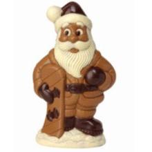 Père Noël sur un snowboard