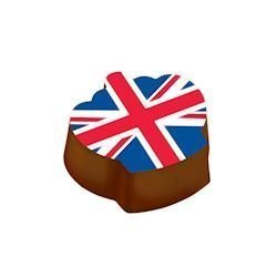 Feuilles de transfert Couronne motif drapeau d'Angleterre