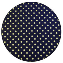 Confectionery foil, Gold dots on Black
