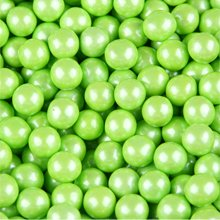 Sixlets, perlized Green Lime