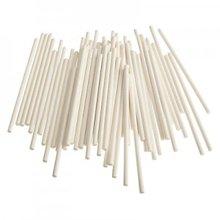 Bâtons pour sucette en papier blanc, en caisse