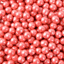 Sixlets, perlized Coral