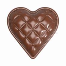 cw1892-Moule chocolat Coeur matelassé