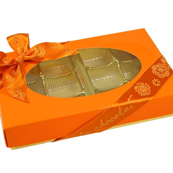 Boîte 1/2lb rectangle Orange