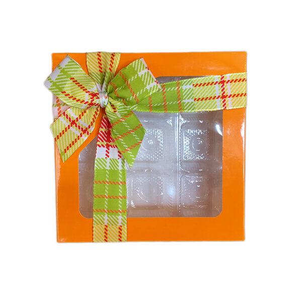 Boîte carrée 1/2lb, Orange