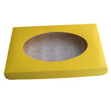 Yellow, 1lb rectangular box