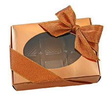 "1/4lb Metallic ""Rose Gold"" folding box"