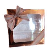 1/2lb square box, Rose gold