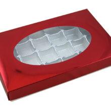 Metallic red, 1lb rectangular box