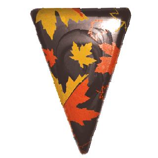 Plaque à remplir en triangle, Feuille d'érable
