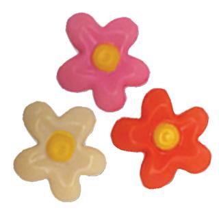 Plaque à remplir Fleurs 2D en 3 couleurs