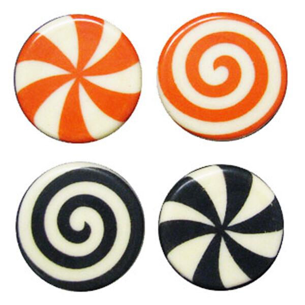 Plaque à remplir Bonbons noir ou orange