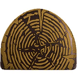 Plaque à remplir - Embout de bûche ''Tronçon de bois en or''